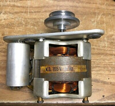 Tandberg Capstan motor for 64X 74B 72 reel to with pulley, run capacitors