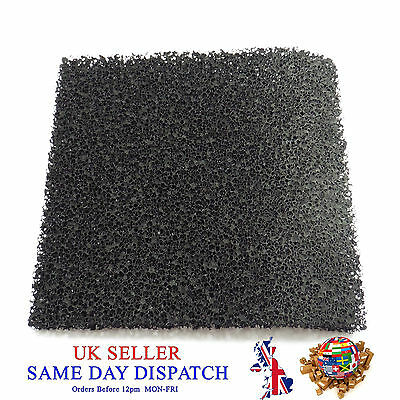 Activated Carbon Smoke Filter Pad Black Universal Foam Air Sponge Fume Extractor