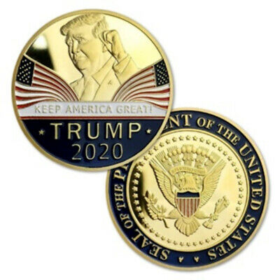 "Donald Trump 2020 ""KEEP AMERICA GREAT"" Commemorative Challenge Eagle Coins Gold"