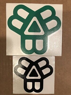 2 BISSELL BROTHERS GREEN & BLACK DECAL SET sticker monkish tree house beer can