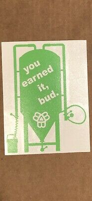 BISSELL BROTHERS GREEN DECAL sticker monkish tree house beer can cooler car ipa