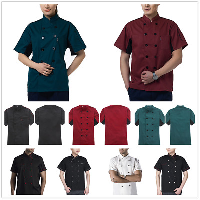 Unisex Canteen Coffee Clothing Short Sleeve Chef Coat Breathable Mesh Blouse Hot