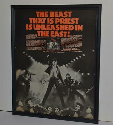 Judas Priest 1979 Unleashed In The East Framed Poster /Ad
