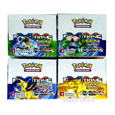 324pcs Pokemon EVOLUTION English EX WITH FLASH CARD TCG Booster Toy Gift Random