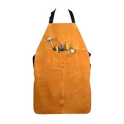 Leather Welding Protective Clothing Apron Thicken Electric Welding Protecti D9S8