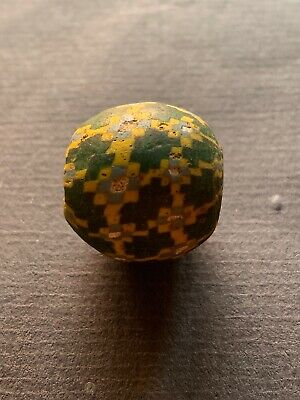 Alte Glasperle, ,Old Glass Bead Indonesien Java China Tibet Nepal Buddha (A115)