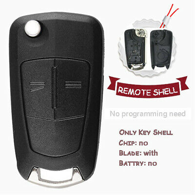 2 Button Replacement Remote Key Fob Case Shell Fit for Vauxhall Opel Astra H