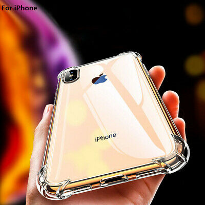 Ultra-thin Anti-shock Smooth Clear Case Cover For Huawei P30/20 Lite  iPhone Xr