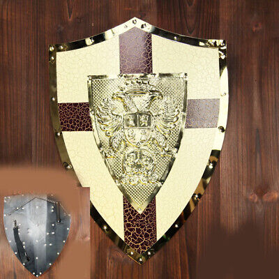 D29 Europe Retro Medieval Shield Antique Knight Armour Wall Home Decor Full Size