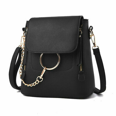 Women Leather Shoulder Bags Ladies Backpack Handbag Messenger Crossbody Bag AU