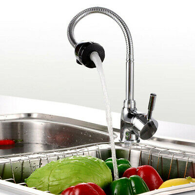 Kitchen Basin Sink Swivel Mixer Tap Pull Down Spout Hot & Cold Chrome Faucet