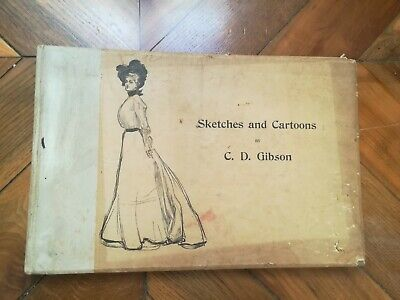 Sketches and Cartoons by Charles Dana GIBSON -  New York 1900