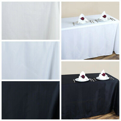 """90"""" x 132"""" Polyester TABLECLOTH with Rounded Corners Wedding Party Table Linens"""