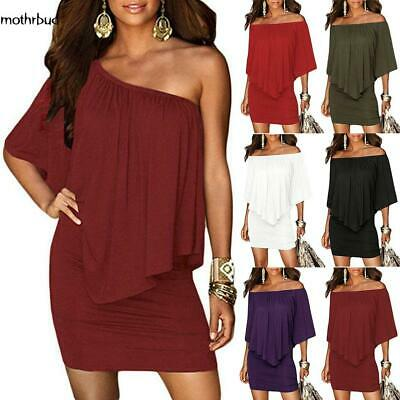 New Fashion Women Casual Off Shoulder Package Hip Solid Mini Beach Dress M5BD 02