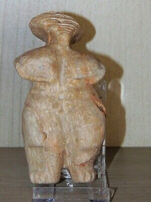 Neolithic carved marble goddess Venus figurine, old Europe, ca 12,000- 5,000 BC