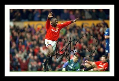 Andy Cole - Manchester United Autographed Signed & Framed Pp Poster Photo