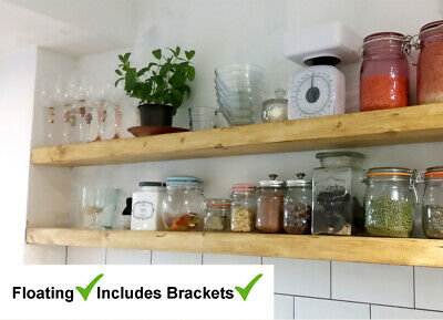 Book Shelves shelf Reclaimed Upcycled Display Industrial & Rustic + Brackets