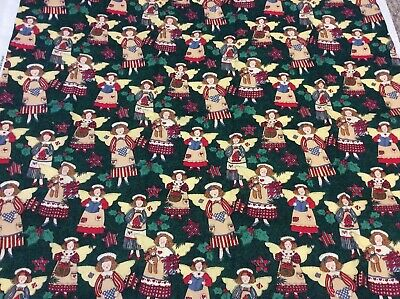 """1995 Christmas Angels #2203 by Susan Winget Fabric Traditions Cotton 28"""" x 29"""""""