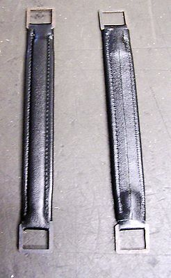 Hmv 101-102 Portable Gramophone Handle New Made Black Strapp Made In Leather