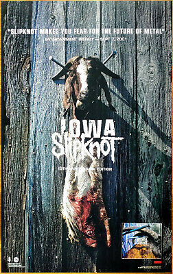 SLIPKNOT Iowa: 10th Anniversary Edition New RARE Poster +FREE Rock Metal Poster!