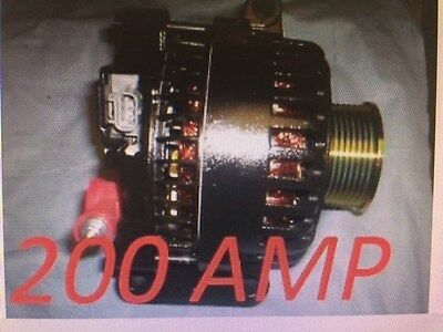Ford EXCURSION Alternator BLACK HIGH AMP 2005 6.0L V8 DIESEL STD 2003 2004 6.0L