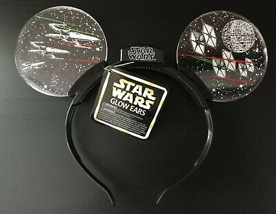 Disney Parks Exclusive Star Wars Glow Light Up Ears Headband New
