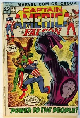 Captain America #143.  DC 1971. Bronze Age FN+ condition.