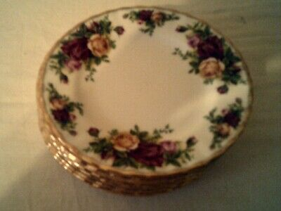 SEVEN ROYAL ALBERT Bone China England OLD COUNTRY ROSES  BREAD & BUTTER PLATES