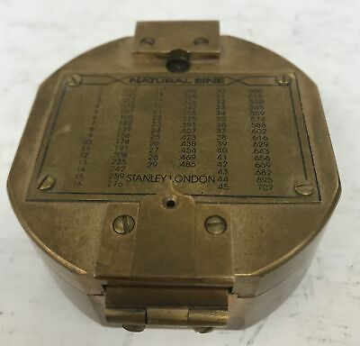 Vintage STANLEY of LONDON Brass Natural Sine  NAUTICAL COMPASS #685