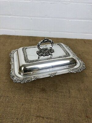 Beautifully Ornate Antique Sheffield Silver Plated Entree Dish C 1880