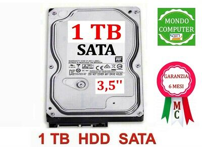 Hard Disk Western Digital 1 Tb Caviar Green  Sata < 3,5 ''> Pc Fisso / Desktop