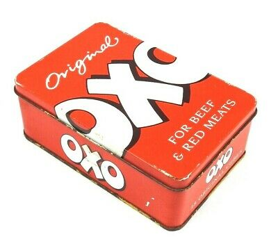 Vintage *OXO TIN* Empty 1992 Designed By Martin Sanders Retro Kitchen 48 Cubes