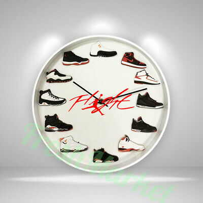 "New Handcrafted 12"" 2D Jordan Sneakers clock OFF white nike supreme AF1 yeezy"