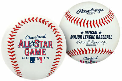 2019 All Star Game Cleveland Indians Rawlings MLB Logo Official Game Baseball