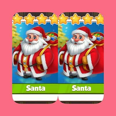 Coin Master Cards 2x Santa's ( Fastest Delivery)