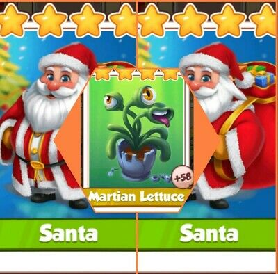 Coin Master Cards  2 Santa's & Lettuce   ( Fastest Delivery)