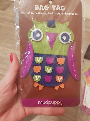 NEW Mudpuppy Owl Bag Tag Luggage Travel, Suitcases, Backpacks