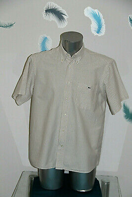 Pretty Shirt Striped Beige Lacoste Size 41 either XL Mint