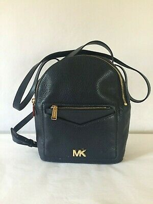 6ab7769d4 Michael Kors Jessa Small Convertible Leather Backpack Admiral MSRP $268