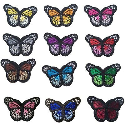 Mini Butterfly iron on patch - Many colours - Bugs insect butterflies patches
