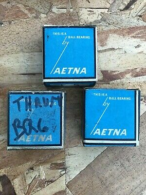 F5 Aetna New Thrust Ball Bearing  NEW OLD STOCK Vintage in box Lot of (3)