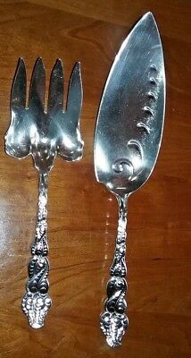 Tiffany & Co. Atlantis Sterling Silver Fish Knife and Fork set Very Rare Look!!!