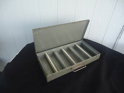 vintage Metal 35mm Slide projector Storage Box case 150 slides