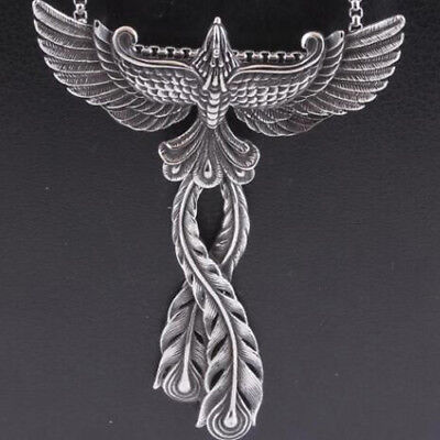 Fashion Women Necklace Vintage 316L Stainless Steel Phoenix Pendant Charms Gift