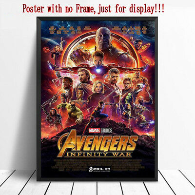 "100% New Avengers Infinity War Movie Silk Poster Marvel Film Print 12x18"" 24x43"""