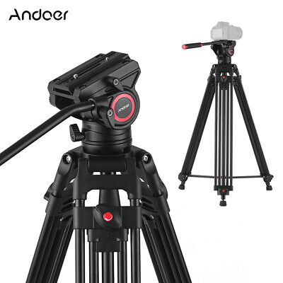 Andoer Tripod Monopod +Hydraulic Head For Canon Nikon Sony DSLR Camera Camcorder