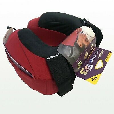 NEW Cabeau Evolution S3 Memory Foam Neck Travel Pillow Cardinal Red TPEP2986