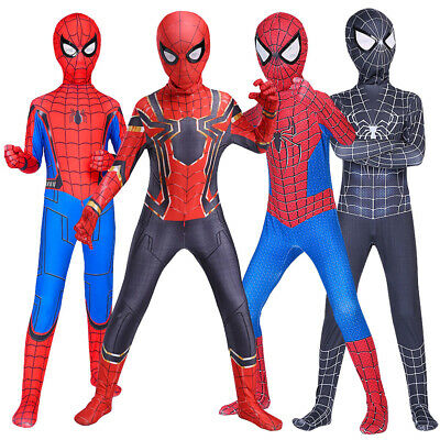 Halloween Venom SpiderMan Superhero Kids Boy Adult Fancy Dress Costume Cosplay