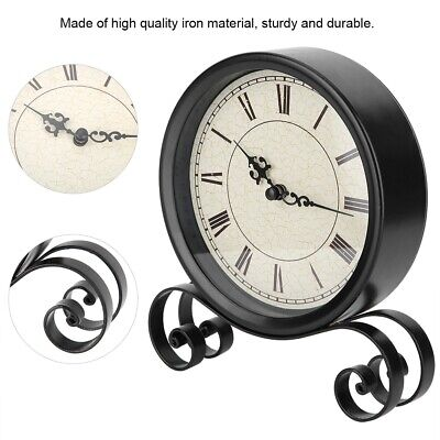 Vintage Double-Sided Iron Art Collectible Alarm Clocks For Bedroom Decoration