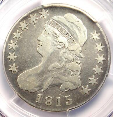 1815/2 Capped Bust Half Dollar 50C - PCGS Fine Details - Rare Overdate Coin!